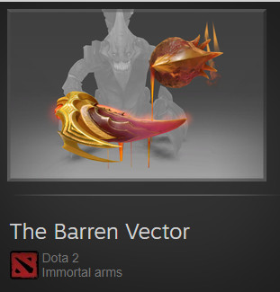 The Barren Vector (Immortal TI7 Sand King)