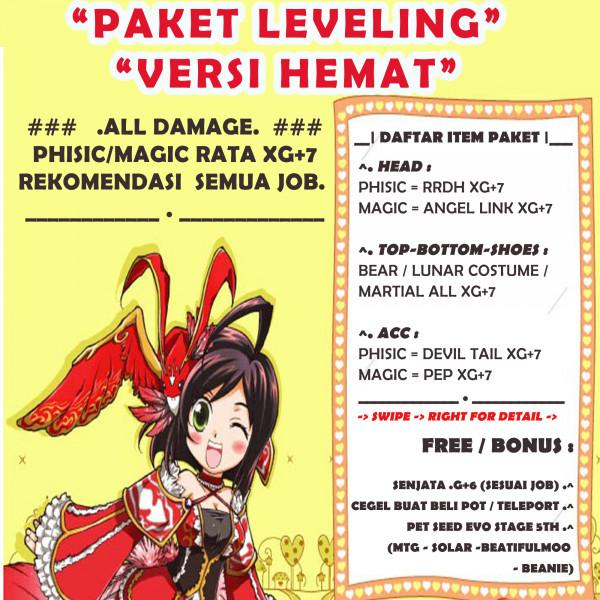 Paket Leveling versi Hemat Phisic/Magic Rata XG