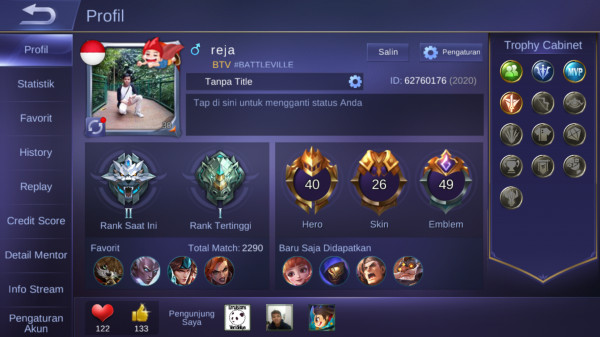 Hero 40 Skin 26|GM 2|All Unbint|Emblem GG|StarlighSaber