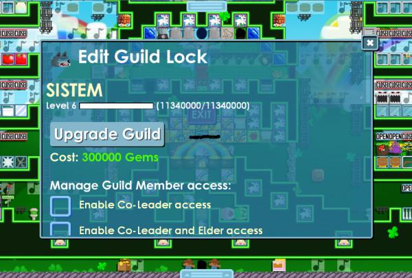 Rare World&Name SISTEM with Guild lv6 Full XP