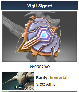 Inscribed Vigil Signet (Immortal Sven)