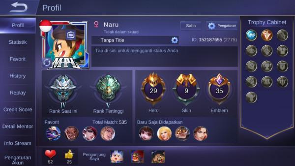 Akun Smurf Mobile Legend