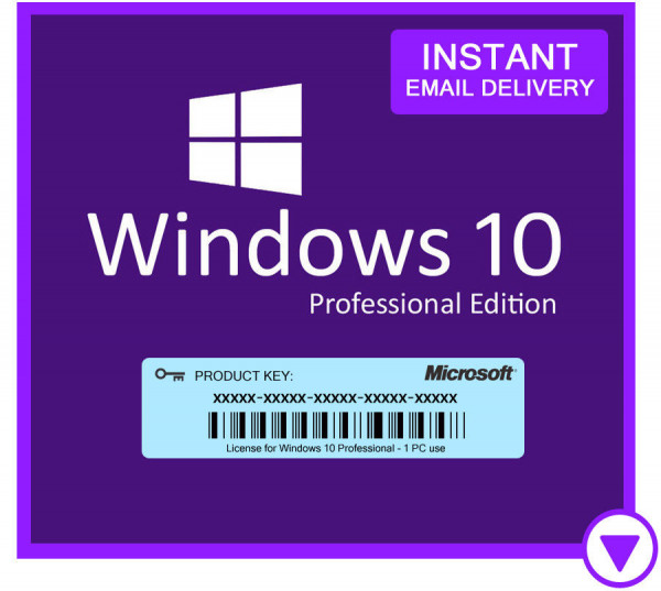 Windows 10 Pro Retail Original - Key Licence