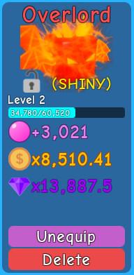 [SHINY] Overlord - Bubble Gum Simulator