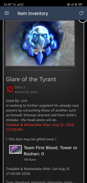 Glare of the Tyrant (Immortal TI8 Lich)