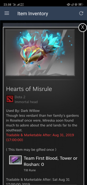 Hearts of Misrule (Immortal TI8 Dark Willow)