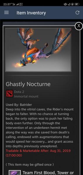 Ghastly Nocturne (Immortal TI8 Batrider)