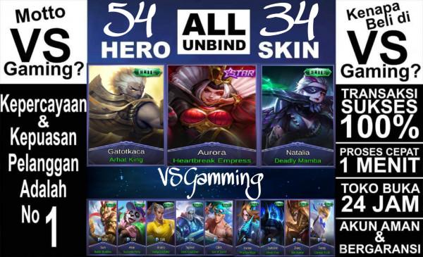 Akun Mobile Legends GG (Tag: #sultan #hero #epic)