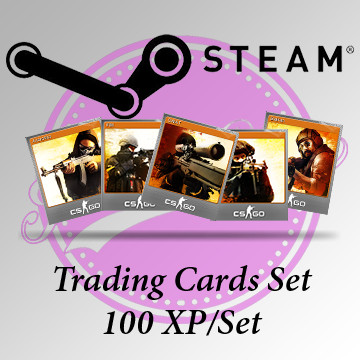 Steam Foil Trading Card Set