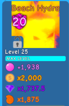 Beach Hydra lvl MAX | Bubble Gum Simulator