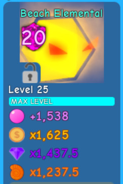 Beach Elemental lvl MAX | Bubble Gum Simulator