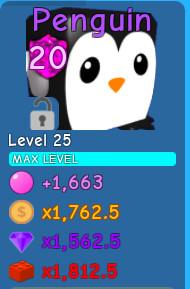 Penguin lvl MAX | Bubble Gum Simulator