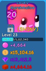 Shiny Lovely Marshmallow lvl 23 | BGS