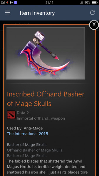 Inscribed Basher of Mage Skulls (Immortal Anti-Mage)