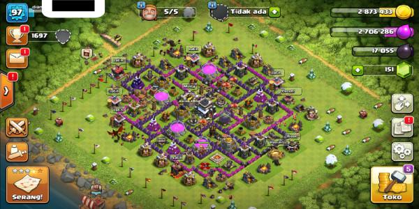Town Hall 9 Builder 5 GG Murah