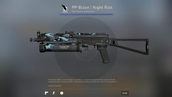 PP-Bizon | Night Riot (Minimal Wear)