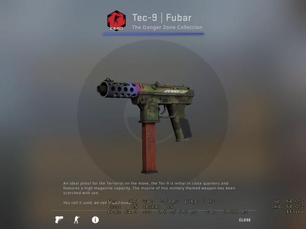 Tec-9 | Fubar (Mil-Spec Grade Pistol)