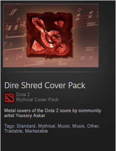 Dire Shred Cover Pack (Music Pack)