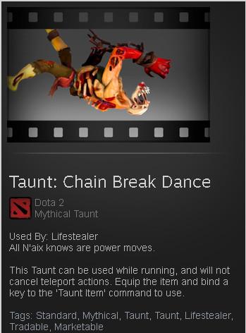 Taunt: Chain Break Dance (Lifestealer Taunt)