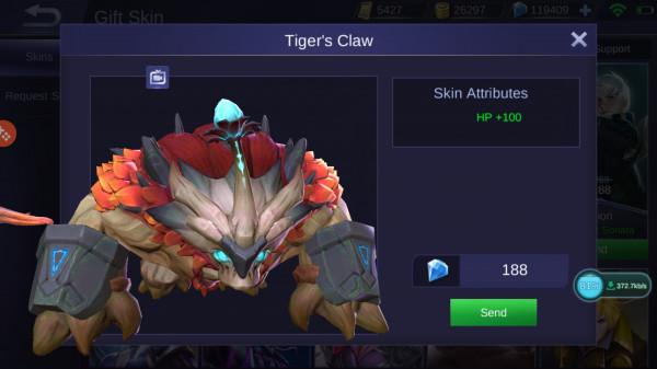 Tiger's Claw (Skin Belerick)