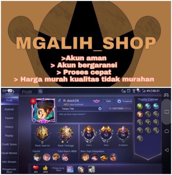 Akun Mobile Legend   Sultan   Mantap   Murah   17