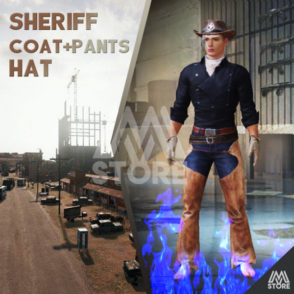 READY Sheriff Coat + Pants + Hat PERMANENT
