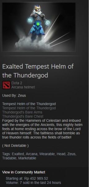 Exalted Tempest Helm of the Thundergod (Arcana Zeus)