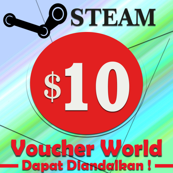 Steam Wallet USD $10