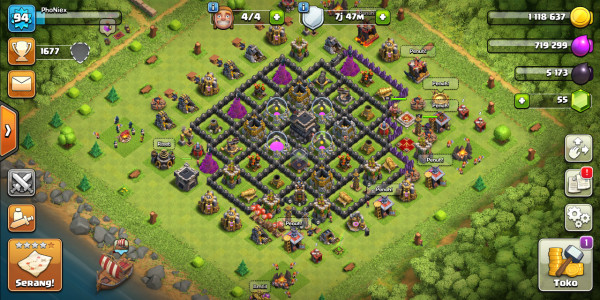 Town Hall 9 | Defense Mid Troops Mid | CN ON