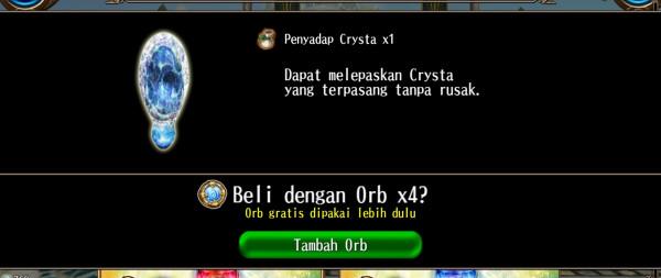 Jual Penyadap crystal ( extraction) dari Toram online indo