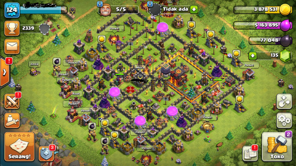 Clash of clans townhall 10 supermax aman mantap