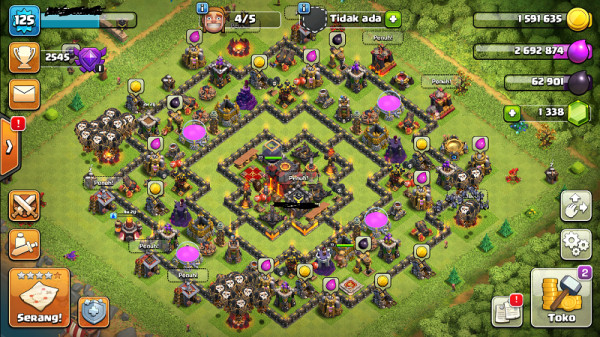 Clash of clans townhall 10 supermax murah mantap