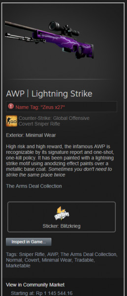AWP | Lightning Strike (Covert Sniper Rifle)
