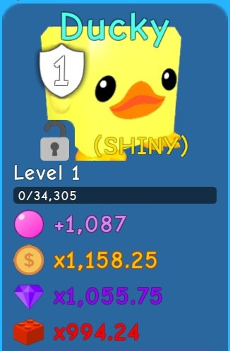 Shinny Ducky [Legendary] Bubble Gum Simulator