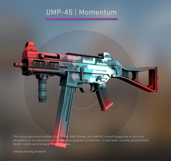 UMP-45 | Momentum (Classified SMG)