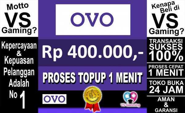 Top-up OVO 400.000