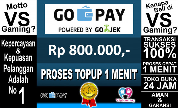 Top-up GO-PAY 800.000