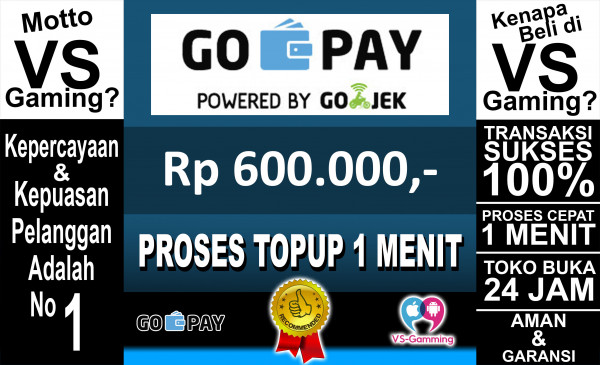 Top-up GO-PAY 600.000