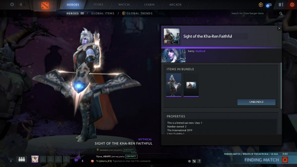 Sight of the Kha-Ren CC 2019 (Drow Ranger Set)