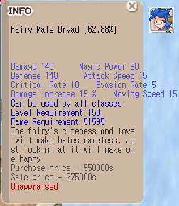 (Seed) Fairy Male Dryad