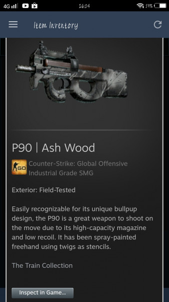 P90 | Ash Wood (Industrial Grade SMG)