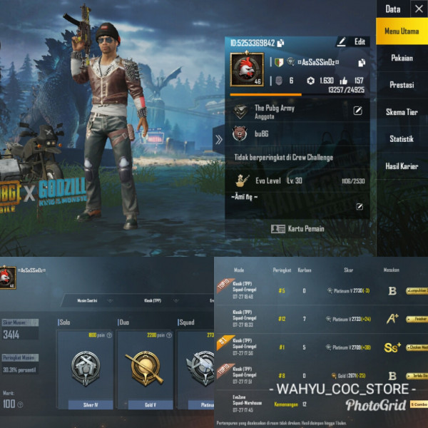LVL 46 | 2 SET COSTUM | SKIN WEAPON ADA 3