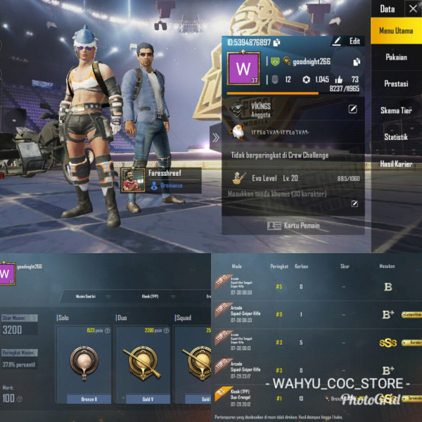 LVL 37 | 4 SET COSTUM | GOLD II + CN ON