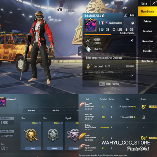LVL 46 | 9 SET COSTUM | SKIN WEAPON ADA 7 + RP ON