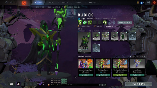 Garb of the Cruel Magician (Rubick Set)
