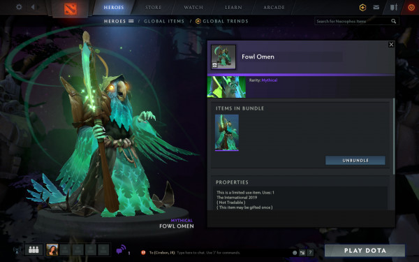 Fowl Omen (Necrophos Set)