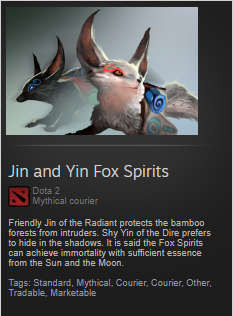Jin and Yin Fox Spirits (Courier)