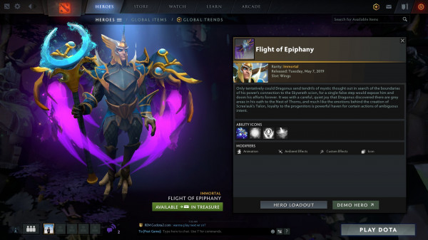Flight of Epiphany (Immortal TI9 Skywrath Mage)