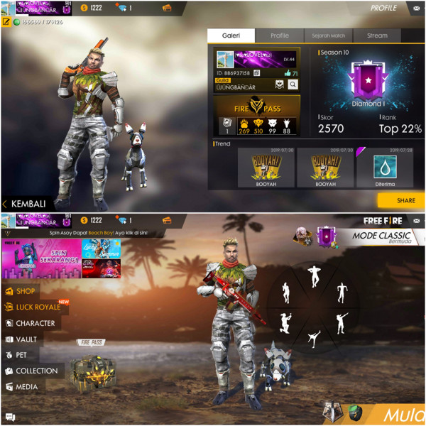Rank Diamond, Bundle banyak & Senjata lobby 4