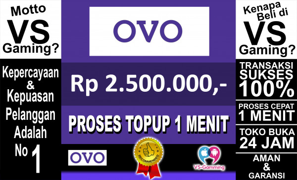 Top-up OVO 2.500.000